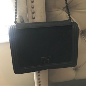 Bcbg Generation Black Chain Flap Bag